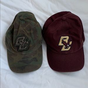 Accessories - TWO BOSTON COLLEGE BASEBALL HATS
